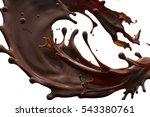 splash of brownish hot coffee... | Shutterstock . vector #543380761