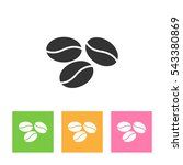 coffee beans icon    | Shutterstock . vector #543380869