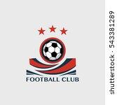 soccer football badge vector... | Shutterstock .eps vector #543381289