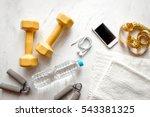 concept preparing to fitness... | Shutterstock . vector #543381325