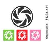 round logo template set.... | Shutterstock . vector #543381664