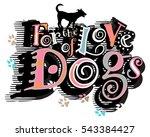vector illustration of a dog... | Shutterstock .eps vector #543384427