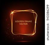 golden frame for text. shining...   Shutterstock .eps vector #543386299