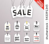 3d price sale text tag symbol... | Shutterstock .eps vector #543391345