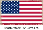 grunge american flag.vector... | Shutterstock .eps vector #543396175