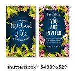floral background for... | Shutterstock .eps vector #543396529