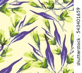 floral seamless pattern. raster ... | Shutterstock . vector #543401659