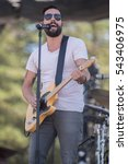 Small photo of Santa Rosa, CA/USA - 6/5/2016 : Matthew Ramsey performs with Old Dominion at Country Summer Music Festival. They have been nominated for American Music Awards and CMT Music Awards.