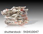 pile of old folding newspapers... | Shutterstock . vector #543410047