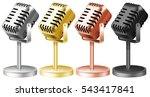 microphone in four colors... | Shutterstock .eps vector #543417841