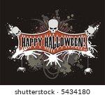 halloween splash image | Shutterstock .eps vector #5434180