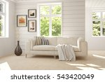 white room with sofa and green... | Shutterstock . vector #543420049