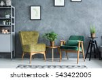 flat with modern and stylish... | Shutterstock . vector #543422005
