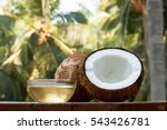 coconut and coconut oil with... | Shutterstock . vector #543426781