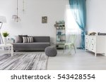 bright spacious living room... | Shutterstock . vector #543428554