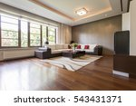 modern living room design with... | Shutterstock . vector #543431371