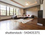 modern living room design with... | Shutterstock . vector #543431371