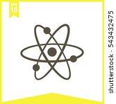 atom vector icon. | Shutterstock .eps vector #543432475
