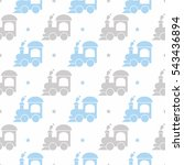 kids seamless pattern with...   Shutterstock .eps vector #543436894