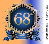 68 years greeting card... | Shutterstock .eps vector #543440161