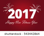 happy new fitness year | Shutterstock . vector #543442864