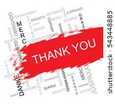 thank you word cloud in... | Shutterstock .eps vector #543448885