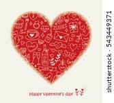 love elements with a heart | Shutterstock .eps vector #543449371