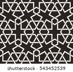 seamless pattern with... | Shutterstock .eps vector #543452539