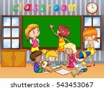 students learning in the class... | Shutterstock .eps vector #543453067