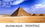 Great Pyramid of Giza, called the pyramid of Pharaoh Khufu. Egypt. - stock photo