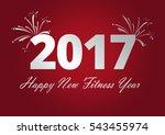 happy new fitness year | Shutterstock . vector #543455974