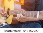 young hipster man playing... | Shutterstock . vector #543457927
