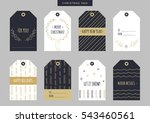 set of gold christmas and new... | Shutterstock .eps vector #543460561