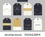 set of gold christmas and new... | Shutterstock .eps vector #543463894