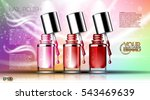 digital vector transparent nail ... | Shutterstock .eps vector #543469639