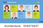 five members of team slide... | Shutterstock .eps vector #543473647