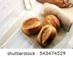 different kinds of bread rolls... | Shutterstock . vector #543474529