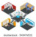 multistore exhibition isometric ...   Shutterstock .eps vector #543476521