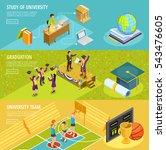 university education 3... | Shutterstock .eps vector #543476605