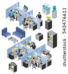 isolated isometric cubicle... | Shutterstock .eps vector #543476611