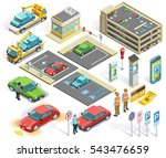 parking isometric elements set... | Shutterstock .eps vector #543476659