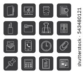 business and office icon set ... | Shutterstock .eps vector #543480121