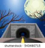 Scene With Tunnel At Night...