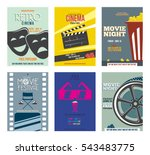 retro cinema poster. vintage... | Shutterstock .eps vector #543483775