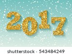happy new year 2017 greeting... | Shutterstock .eps vector #543484249