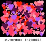 happy valentines day design... | Shutterstock .eps vector #543488887