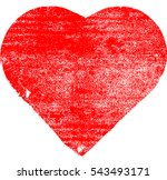 Set Of Hearts . Grunge Stamps...