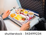 food served on board of economy ... | Shutterstock . vector #543499234