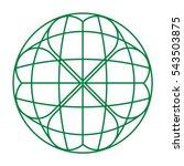green globe logo with heart... | Shutterstock .eps vector #543503875