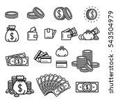 money icon illustration. wallet ...   Shutterstock .eps vector #543504979